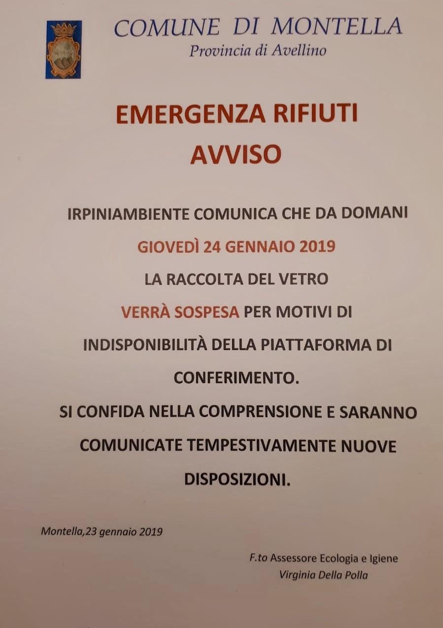 AVVISO EMERGENZA RIFIUTI