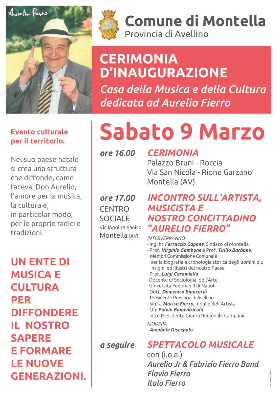 """Inaugurazione casa della musica e della cultura """"Aurelio Fierro"""""""