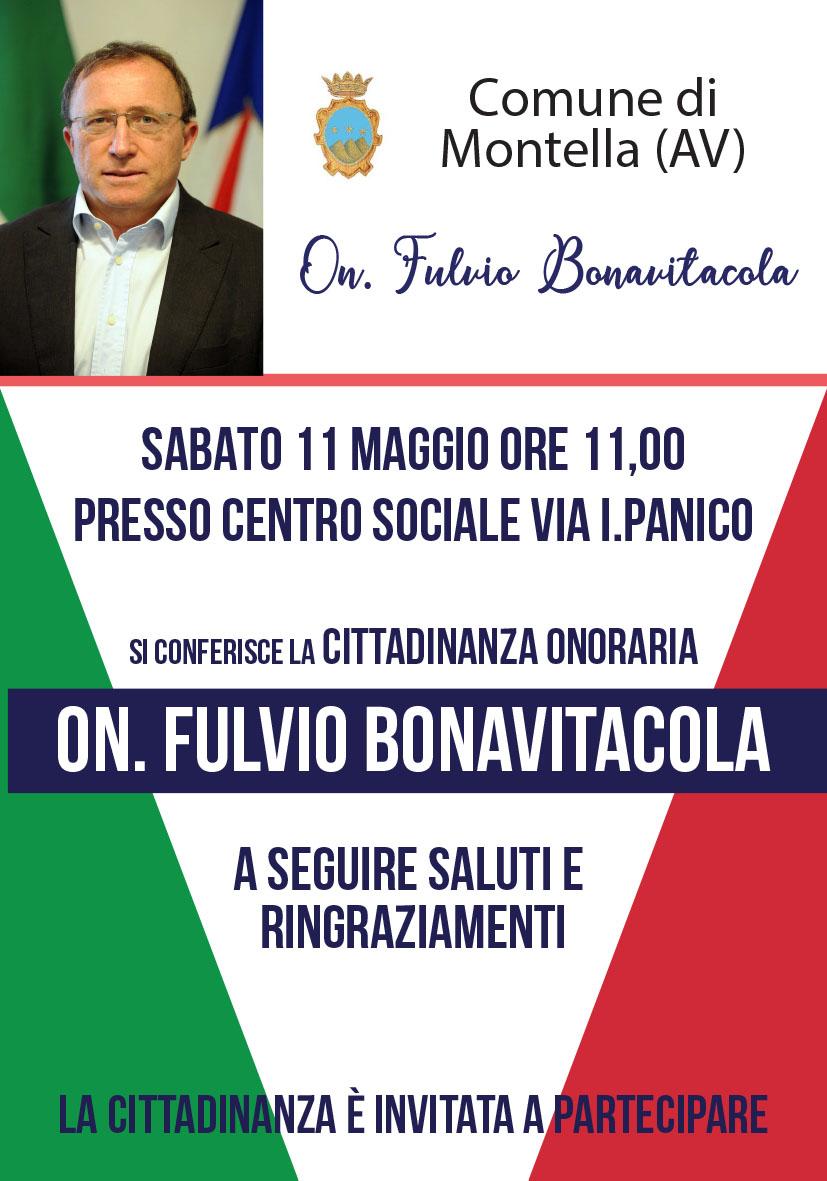 Cittadinanza onoraria On. Fulvio Bonavitacola