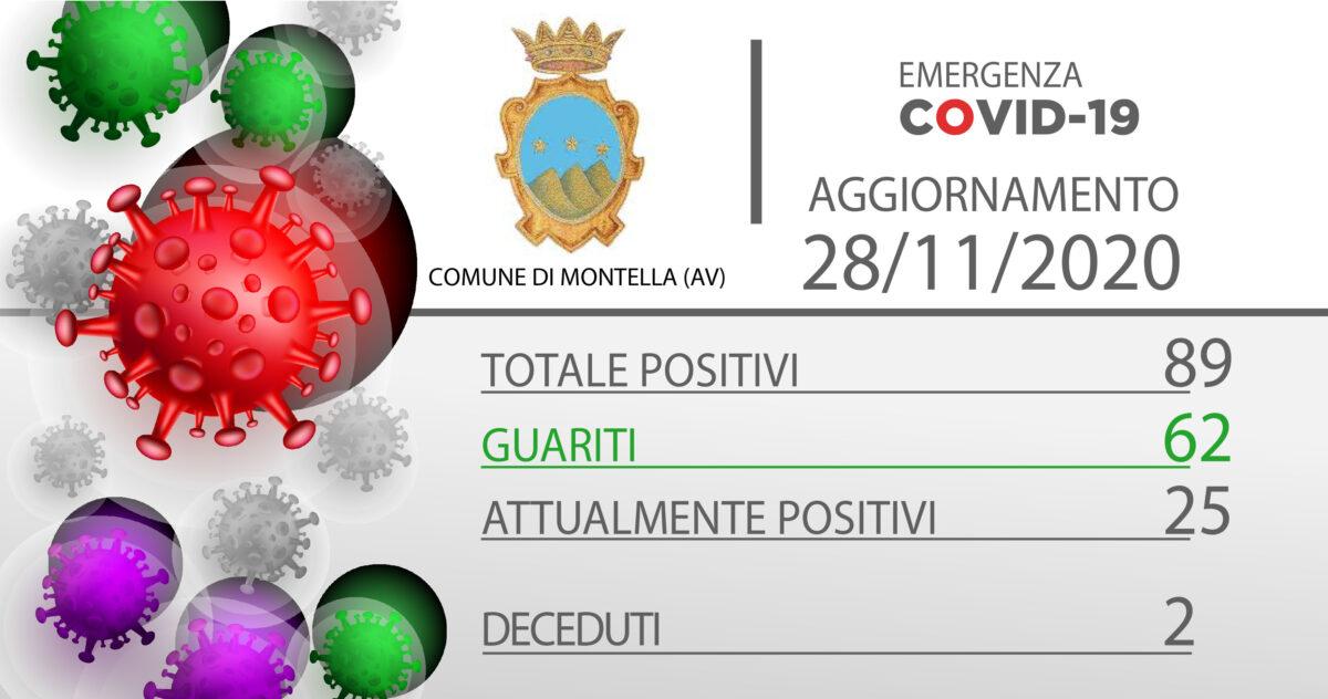 Emergenza Covid-19: Aggiornamento 28/11/2020