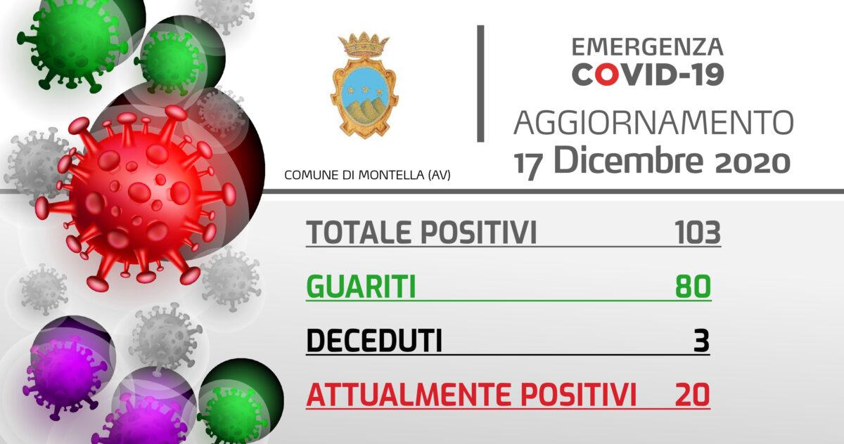 Emergenza Covid-19: Aggiornamento 17/12/2020