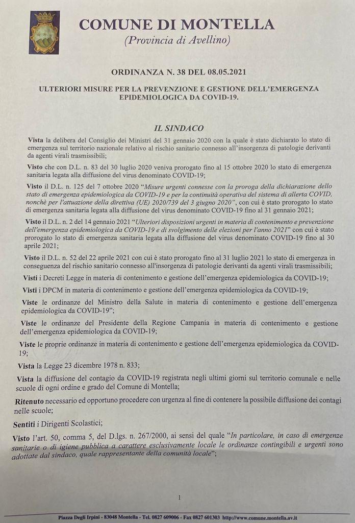 SOSPENSIONE ATTIVITA' DIDATTICA IN PRESENZA